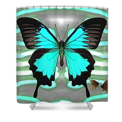 Butterfly Patterns 24 Shower Curtain