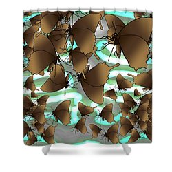 Butterfly Patterns 4 Shower Curtain