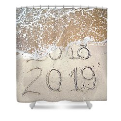 Bye Bye 2018 Welcome2019 Shower Curtain