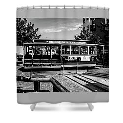 Shower Curtain featuring the photograph Cable Car Turn Around by Stuart Manning