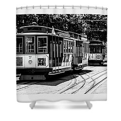 Shower Curtain featuring the photograph Cable Cars by Stuart Manning