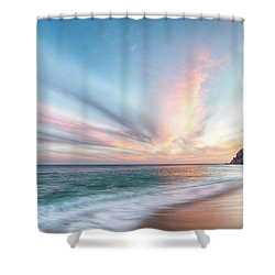 Shower Curtain featuring the photograph Cabo San Lucas Beach Sunset Mexico by Nathan Bush