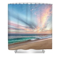 Shower Curtain featuring the photograph Cabo San Lucas Beach Wave Sunset by Nathan Bush