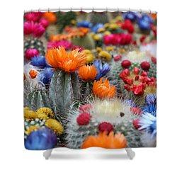 Cacti Flowers Shower Curtain