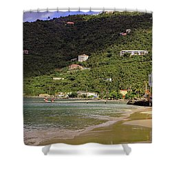 Shower Curtain featuring the photograph Cane Garden Bay by Tony Murtagh
