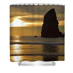 Cannon Beach November Evening Shower Curtain