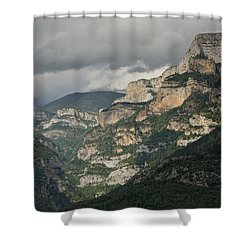 Shower Curtain featuring the photograph Canyon Anisclo by Stephen Taylor