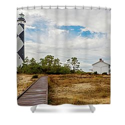 Cape Lookout Lighthouse No. 2 Shower Curtain