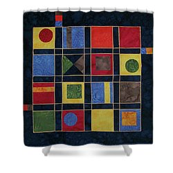 Carnival Of Colors Shower Curtain