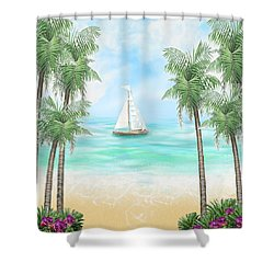 Carribean Bay Shower Curtain