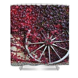 Cart Wheel Shower Curtain