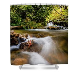 Shower Curtain featuring the photograph Cascades On The Provo Deer Creek by TL Mair