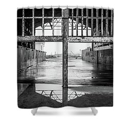 Casino Reflection Shower Curtain