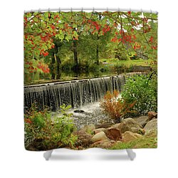 Shower Curtain featuring the photograph Cass Dam by Debbie Stahre