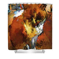Cat In The Kitchen Shower Curtain