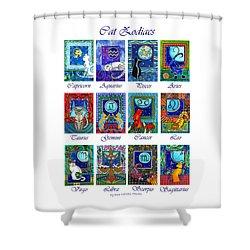 Cat Zodiac Astrological Signs Shower Curtain