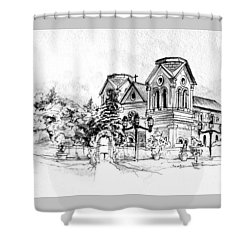 Cathedral Basilica Of St. Francis Of Assisi - Santa Fe, New Mexico Shower Curtain