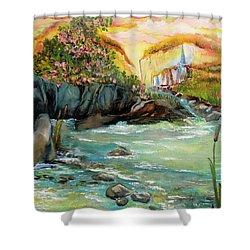 Cattail Falls Shower Curtain