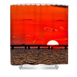 Causeway Sunset Shower Curtain