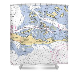 Cayo Costa Nautical Chart Shower Curtain