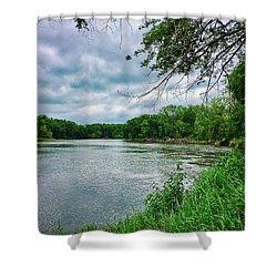 Shower Curtain featuring the photograph Cedar Bend Iowa by Dan Miller