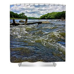 Shower Curtain featuring the photograph Cedar River Iowa by Dan Miller