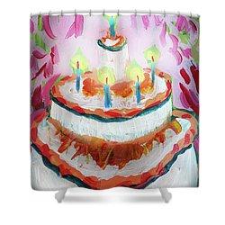 Celebration Cake Shower Curtain