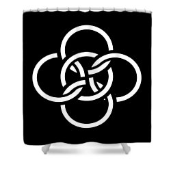 Celtic Five Fold Symbol 2 Shower Curtain