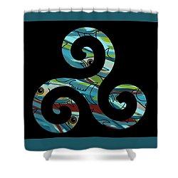 Celtic Spiral 2 Shower Curtain