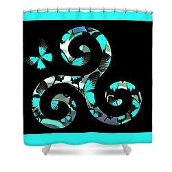 Celtic Spiral 3 Shower Curtain