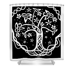 Celtic Tree Of Life 3 Shower Curtain