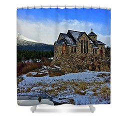 Shower Curtain featuring the photograph Chapel On The Rock by Dan Miller