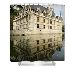 Shower Curtain featuring the photograph Chateau Azay-le-rideau, by Stephen Taylor