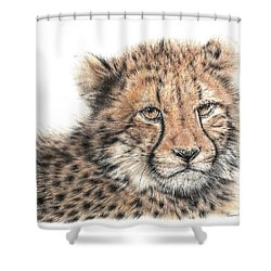 Cheetah Cub Shower Curtain