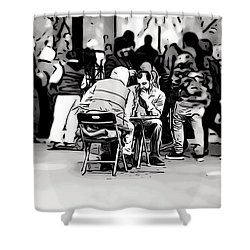 Chess Match Union Square  Shower Curtain
