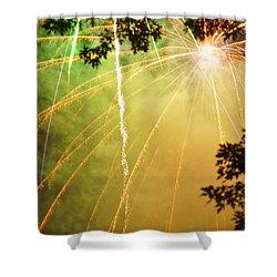 Chetola Yellow Fireworks Shower Curtain