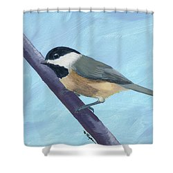 Chickadee 1 Shower Curtain
