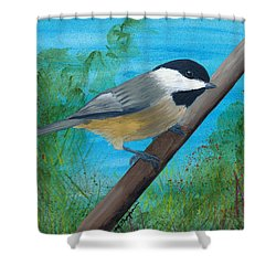 Chickadee 2 Shower Curtain