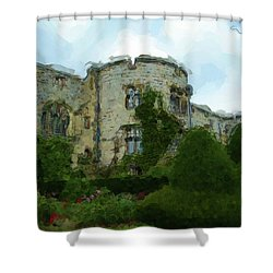 Chirk Castle Painting Shower Curtain