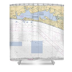 Choctawhatchee Bay Noaa Chart 11388 Shower Curtain