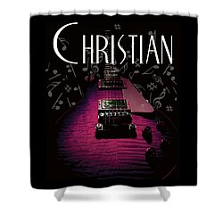 Christian Music Guita Shower Curtain