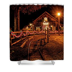 Shower Curtain featuring the photograph Christmas At The Barn In Smithville by Kristia Adams