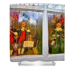 Christmas Chorale Shower Curtain