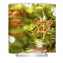 Shower Curtain featuring the photograph Christmas Is Like Snowflakes by Kay Brewer