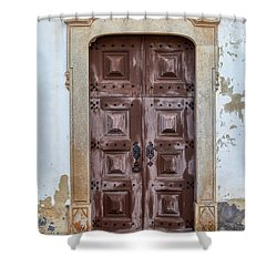 Church Door Of Obidos Shower Curtain