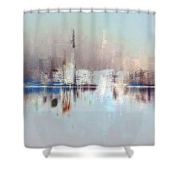 City Of Pastels Shower Curtain