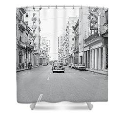 City Street, Havana Shower Curtain