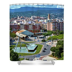 Cityscape In Reus, Spain Shower Curtain