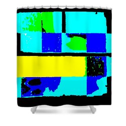 Cityscapec 4000 Original Fine Art Painting Digital Abstract Triptych Shower Curtain