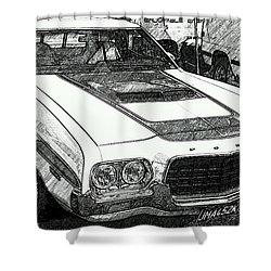 Classic Ford Sketch Shower Curtain